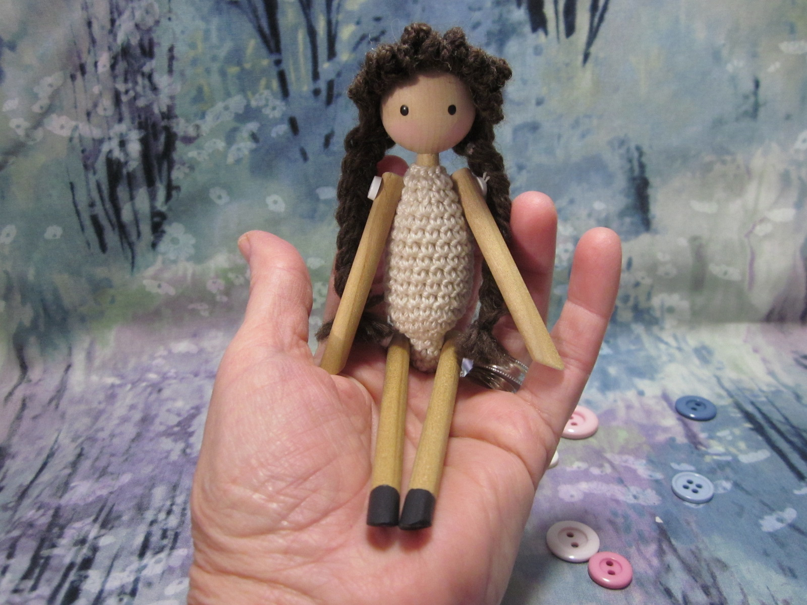 Soft-bodied Peg Dolls