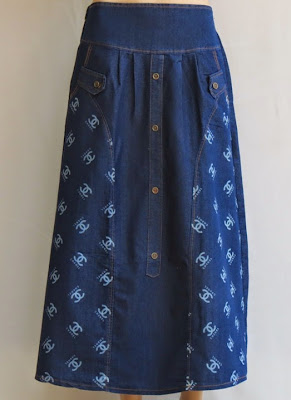 Skirt Jeans Printed Channel