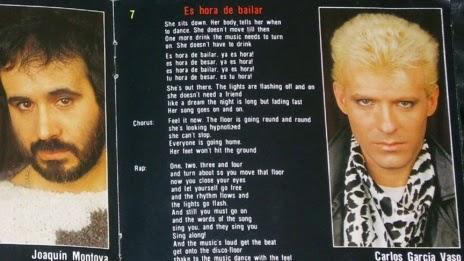 Azul y Negro en el libreto del CD editado por Polygram