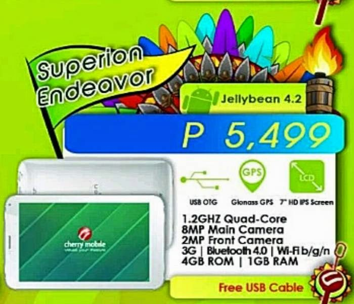 Cherry Mobile Superion Endeavor, 3G Quad-Core Tablet with GLONASS at P5,499