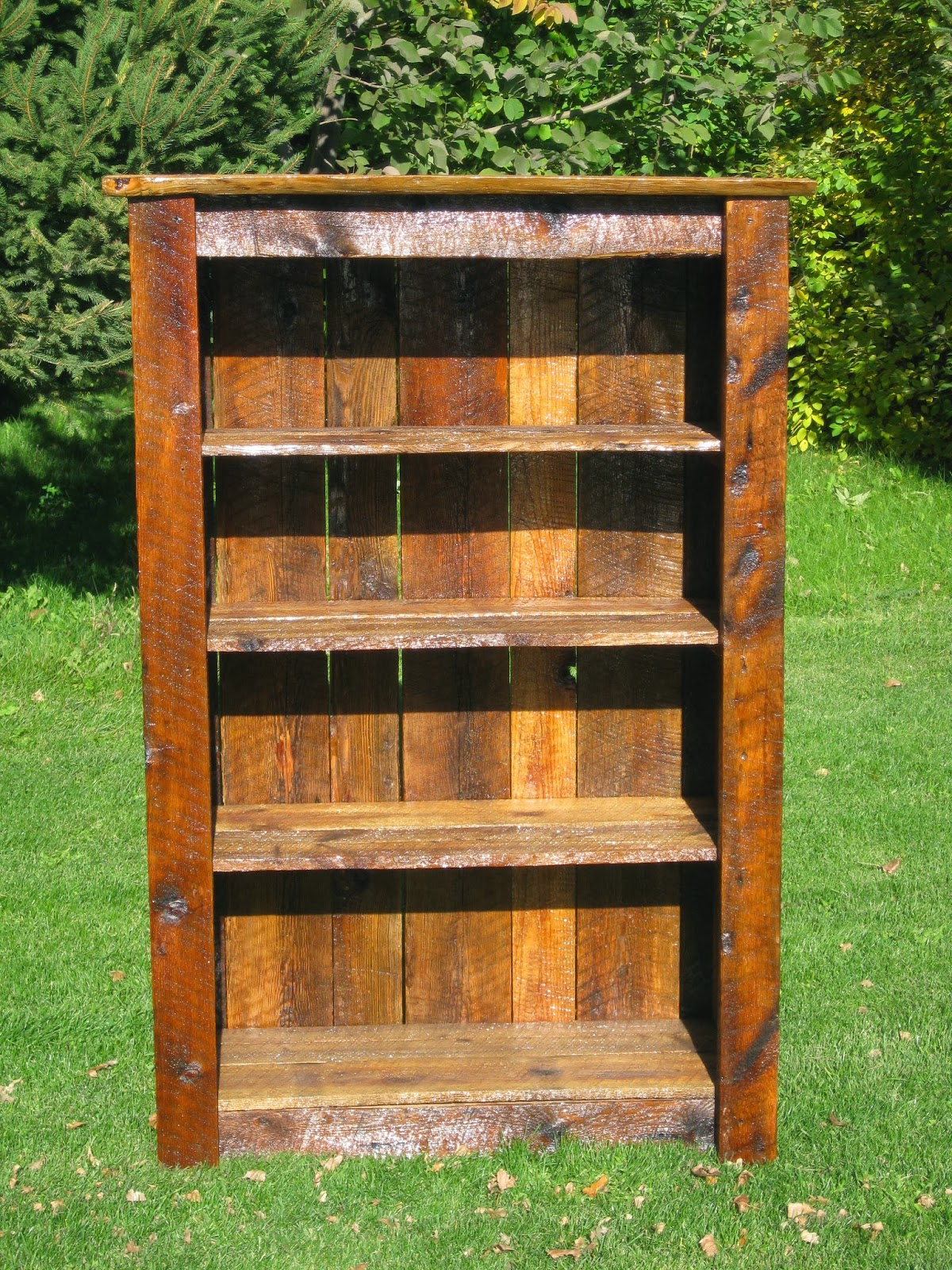 Rustic Home Furniture Barnwood Bookshelf Natural