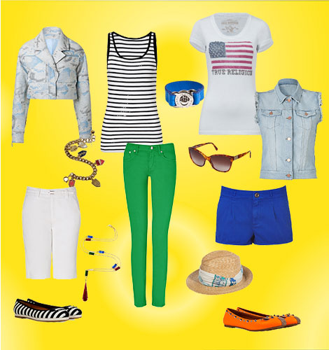 Create several great outfits from these mix and match pieces...