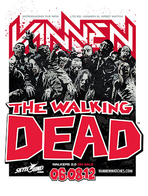 The Walking Dead x Vannen Walkers 2.0 Watch by Charlie Adlard Teaser Image