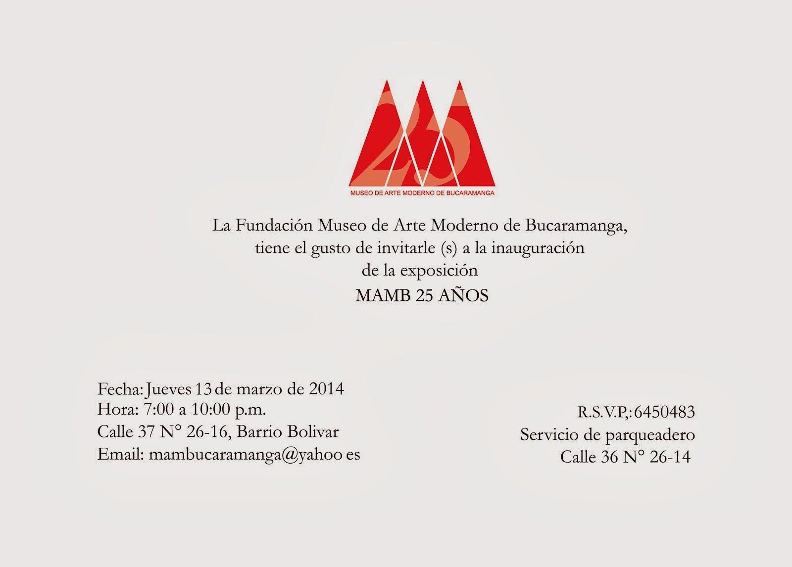 TARJETAS INVITACIÓN AGENDA EXPOSITIVA 2014