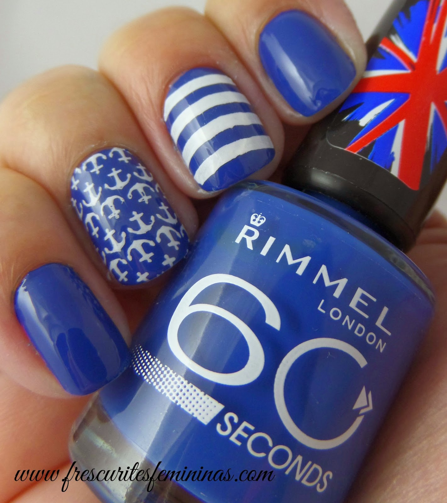 Rimmel, London, 60, seconds, blue, my, mind, frescurites, femininas, blue, nails, esmalte, polish, nail, stamp, carimbo, unhas