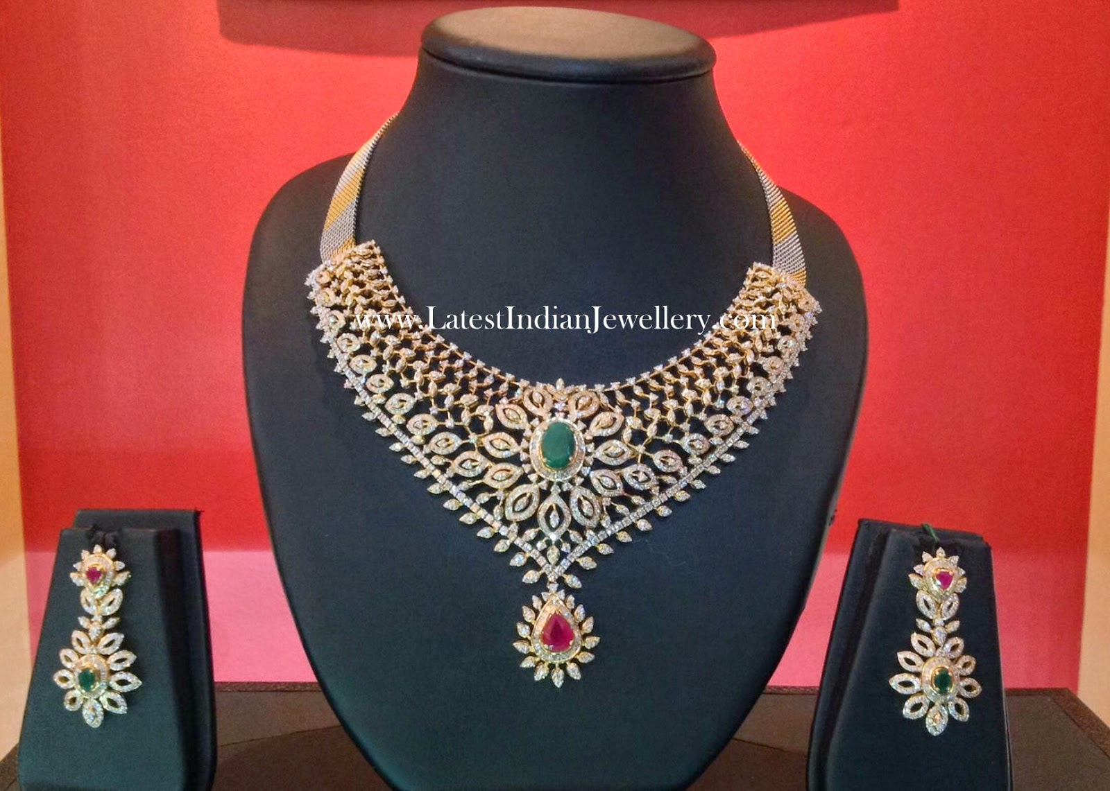 Tanmai Jewellers Diamond Choker Necklace