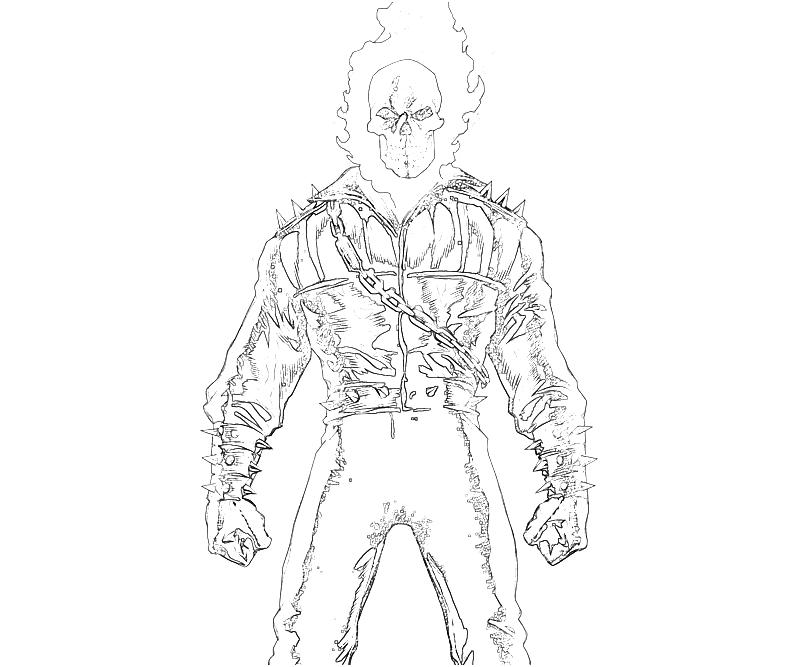Ghost Rider Ghost Rider Character Supertweet Ghost Rider Coloring Pages