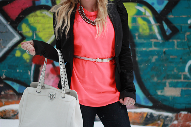 How to wear neon. Inspiration from a Winnipeg Style Blogger.