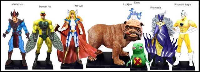 <b>Wave 43</b>: Maelstrom, Human Fly, Thor Girl, Lockjaw, Doop, Phantazia and Phantom Eagle