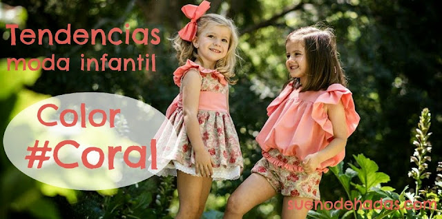 Color coral - Tendencia moda infantil verano
