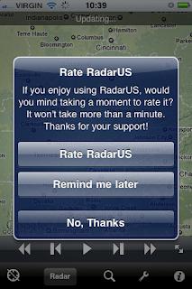 app RadarUS banner richiesta recensione App Store
