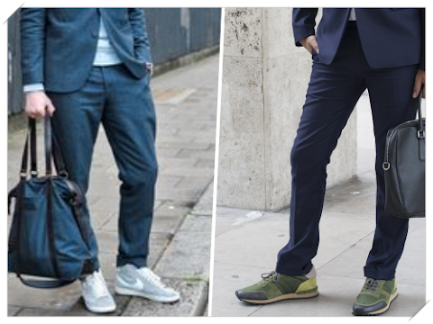 Good examples of how sneakers match with your suit