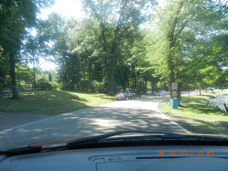 The BLV clerk's daughter parked on a blind curve,to use a weed-eater ?
