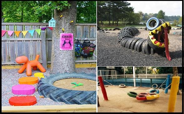 ideias jardim reciclado : ideias jardim reciclado:ARTE DA FLAVIA: ARTE EM PNEUS VELHOS, AMEI!!!