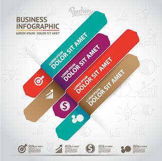 インフォグラフィックス デザイン テンプレート Infographic design Free vector イラスト素材