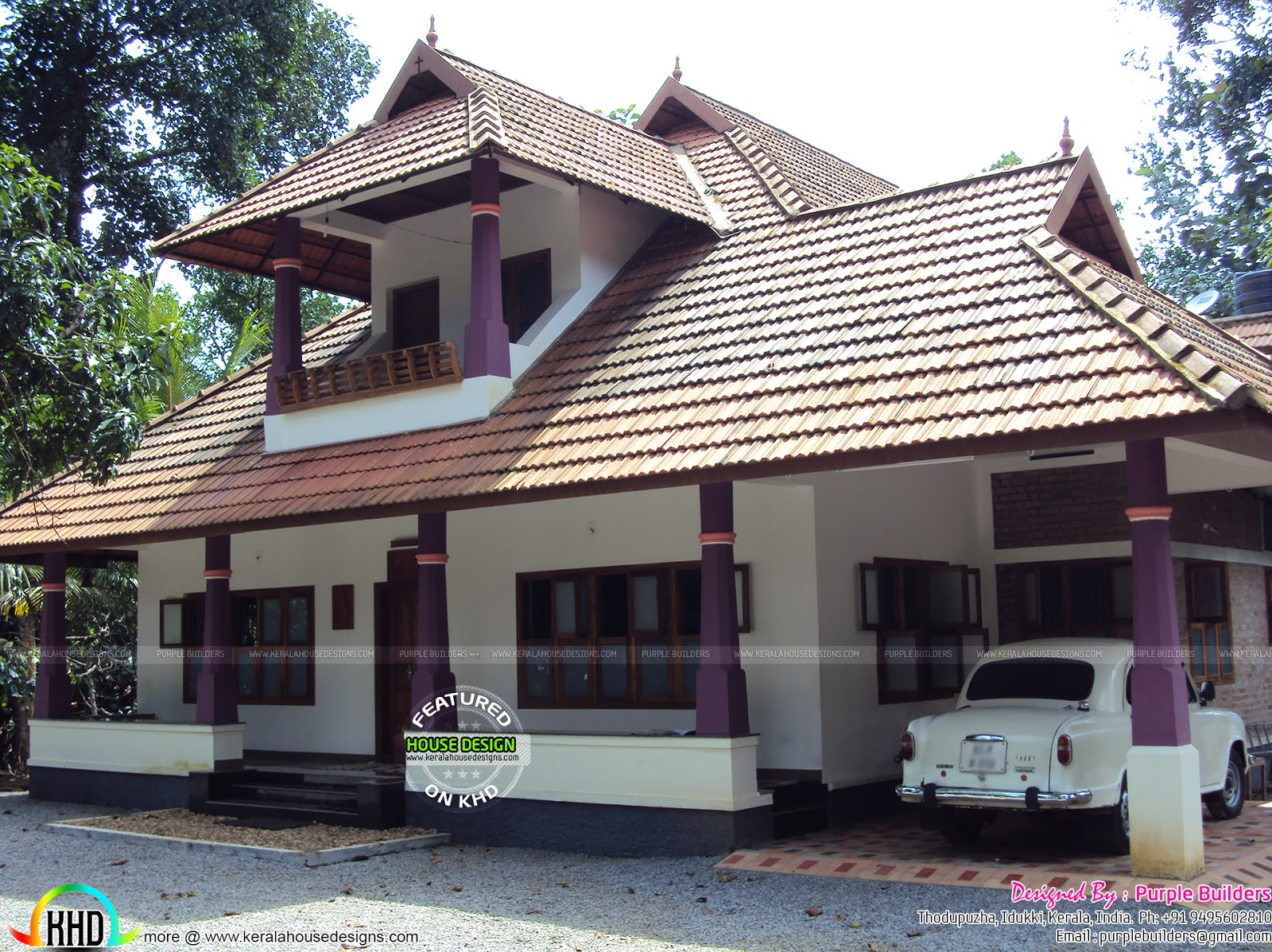 Work completed nalukettu house kerala home design and for New model veedu photos
