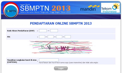 cara mendaftar online SBMPTN seleksi bersama masuk perguruan tinggi negeri 2013