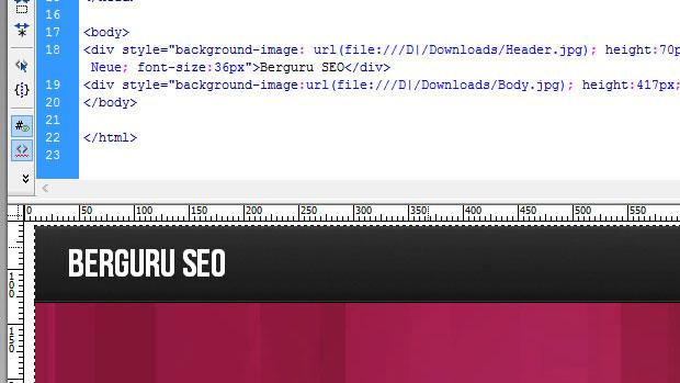 Tutorial Desain Header Web 2