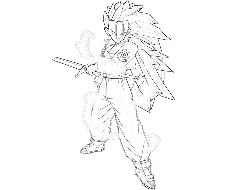 Pin super trunks colouring pages on pinterest for Super saiyan trunks coloring pages