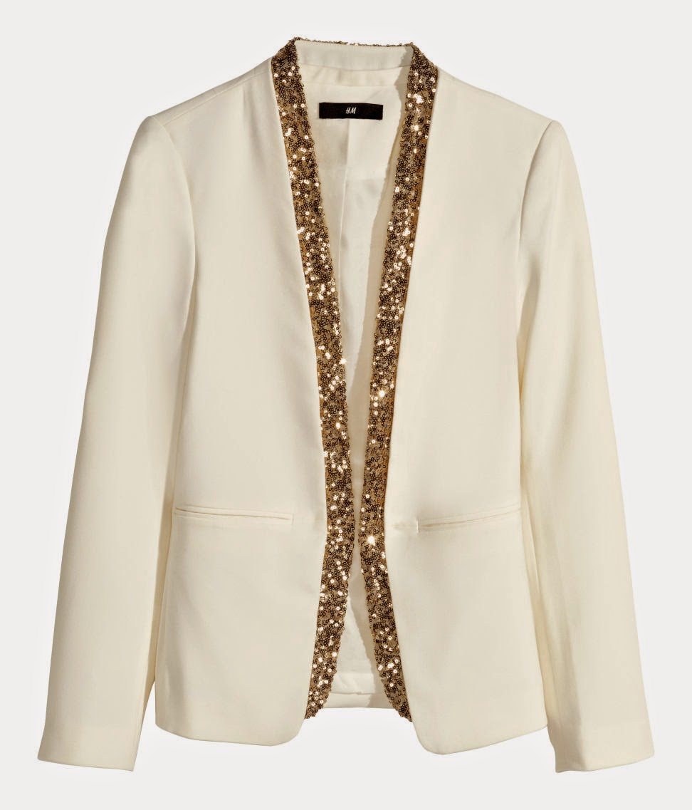 cream and gold blazer