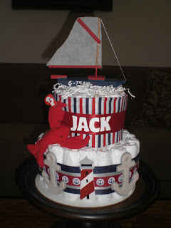 Bear Bottom Diaper Cakes