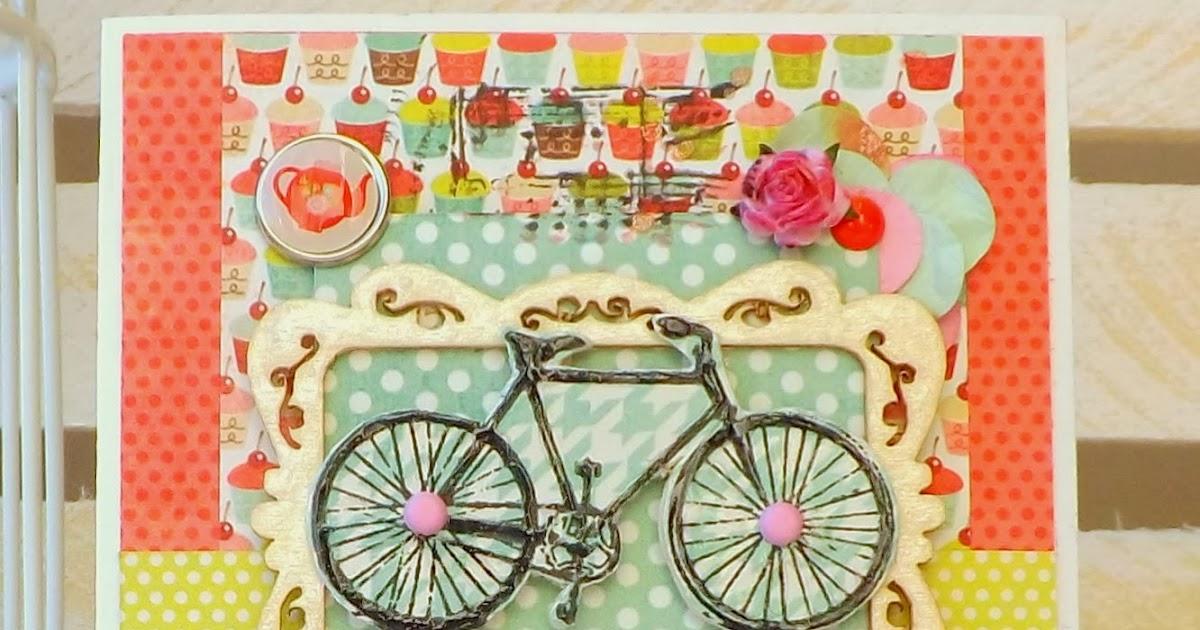Как сделать открытку велосипед 234