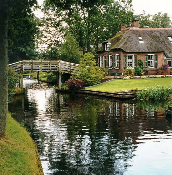 One for the road venice of the netherlands giethoorn - The water street magical town in holland ...