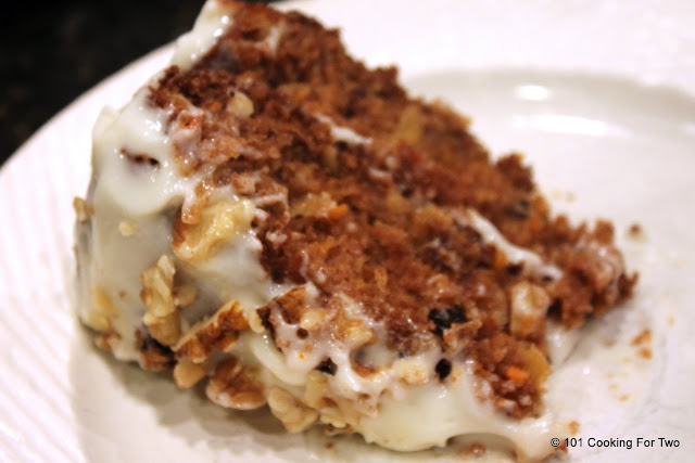 Healthier Low Fat Carrot Cake from 101 Cooking For Two