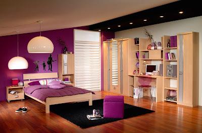diseño habitación lila
