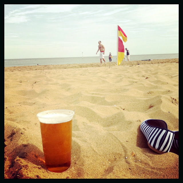 Broadstairs - beer on the beach