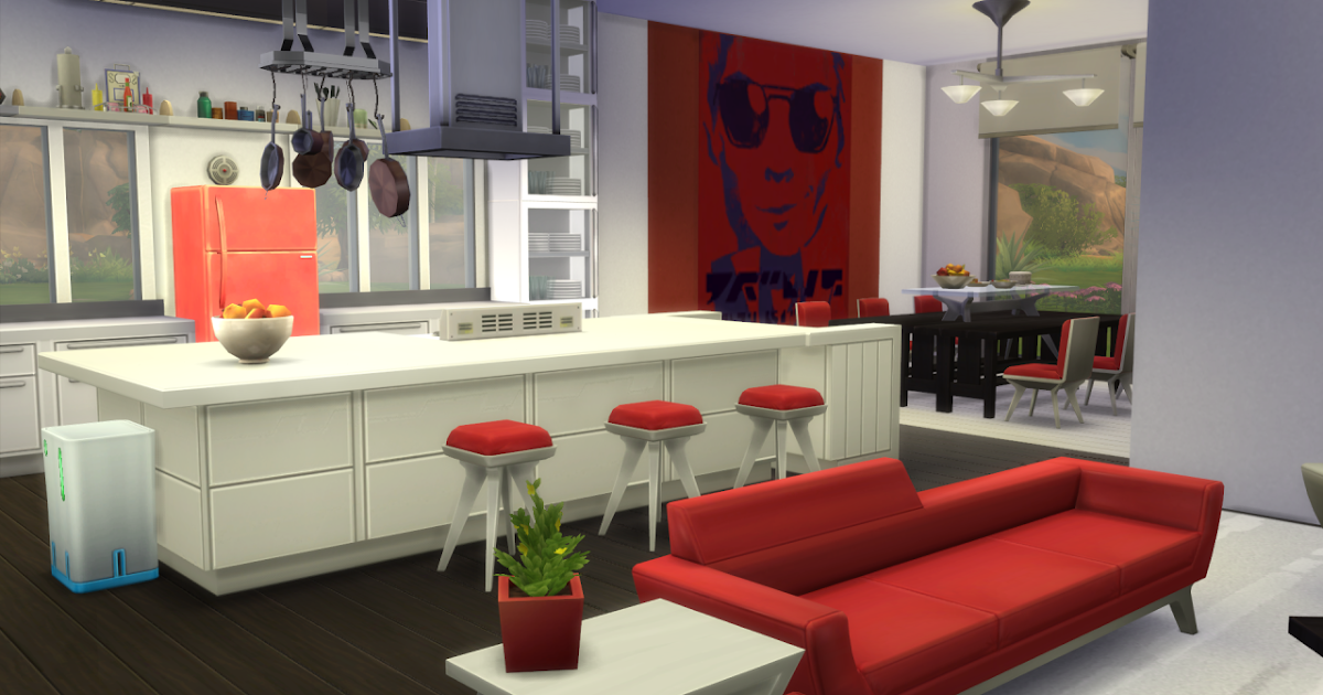 My sims 4 blog modern open concept kitchen dining and for Sims 3 kitchen ideas