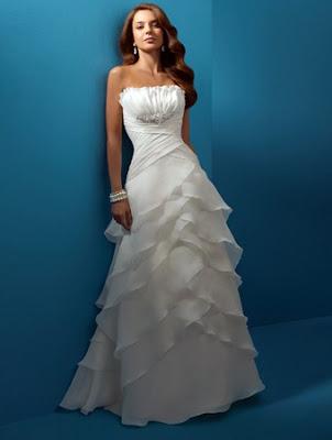 Romantic Beach Wedding Dresses Elegant modest wedding dress features in