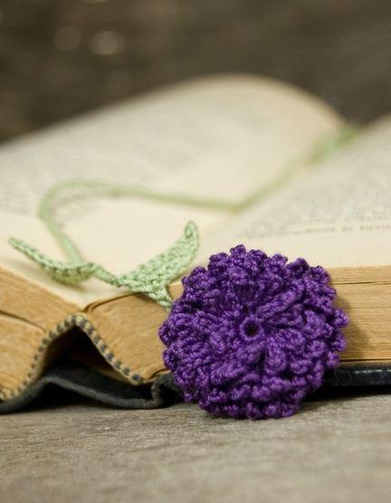 Handy Husband Crafty Wife Crochet Flower Bookmark