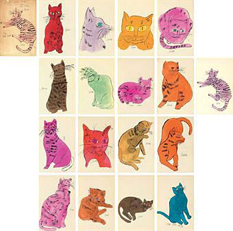 Andy Warhol Cats Named Sam