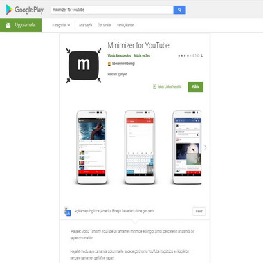 play google com - store - minimizer for youtube