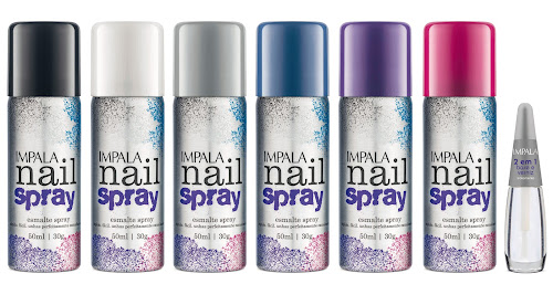 Impala Lança Linha de Esmaltes em Spray Com seis opções de cores, eles são práticos e de fácil aplicação