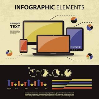 レスポンシブ Web デザインのインフォグラフィックス テーマ infographic elements イラスト素材