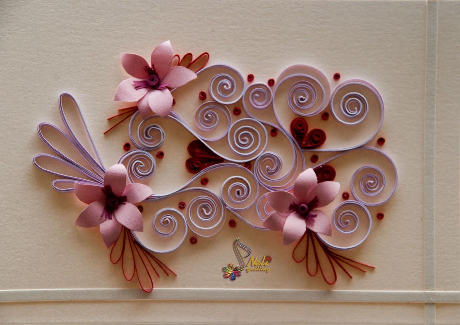 Loja Artesanato Osasco Primitiva Vianco ~ Neli Quilling Art Quilling cards With love  2