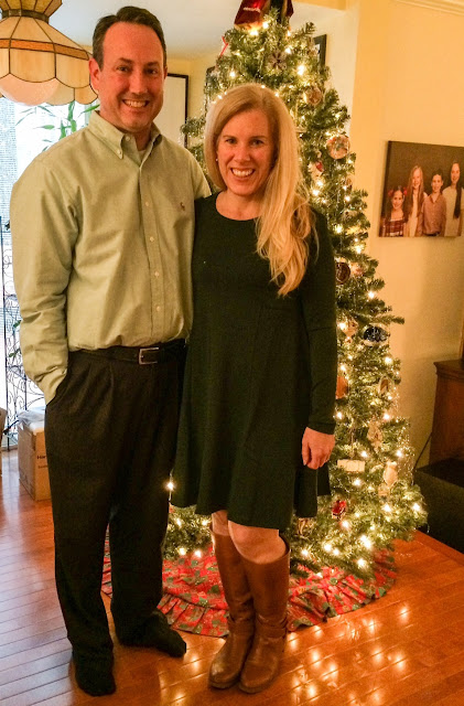 Shein Dark Green Long Sleeve Casual Dress maryland lifestyle preppy blogger review