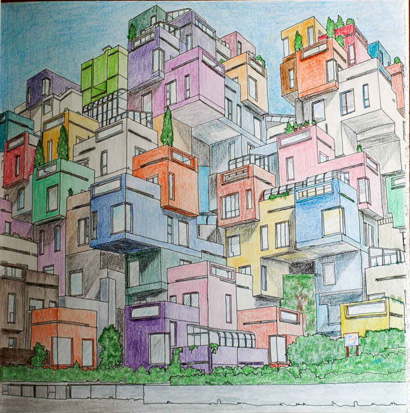 Fantastic Cities Coloring Book Pictures