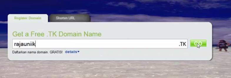 Cara Daftar Domain Gratis Dot Tk