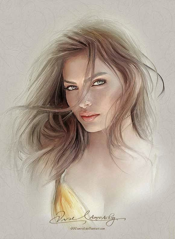 Lukisan Portrait Amro Ashry