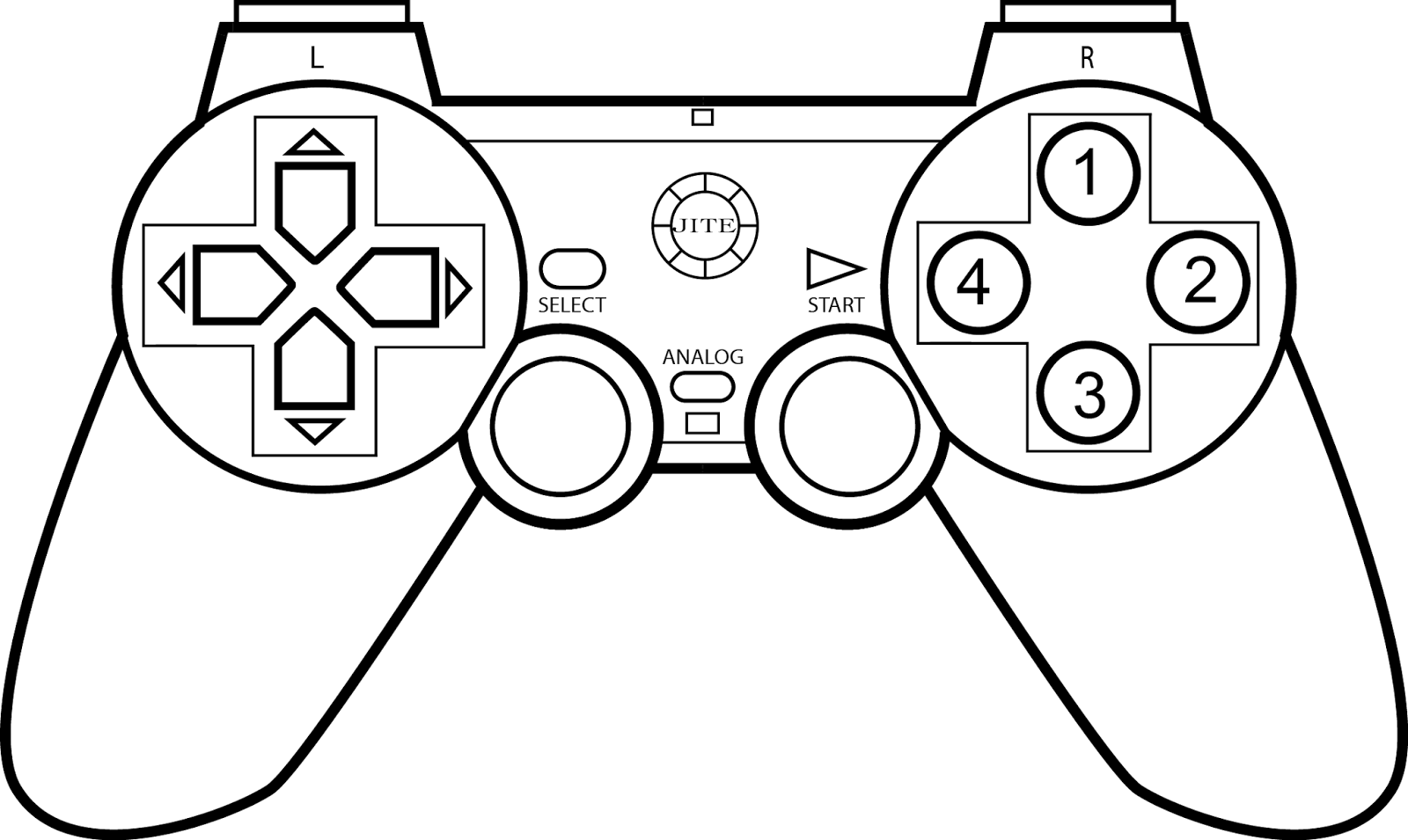 Vector Drawing Lines Game : Game controller coloring page sketch