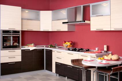 Cocinas modernas color rojo colores en casa for Cocina moderna de color