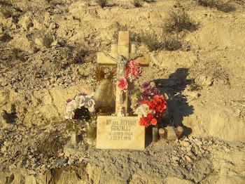 """Hwy. 60 """"Descanso"""" Memorial."""