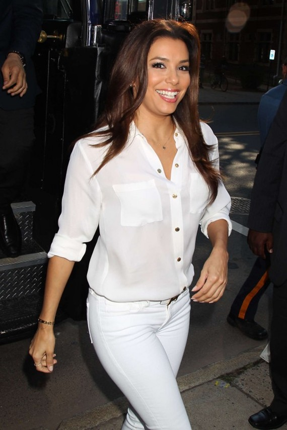 Eva Longoria at Newark Mayor Cory Booker rally in NJ