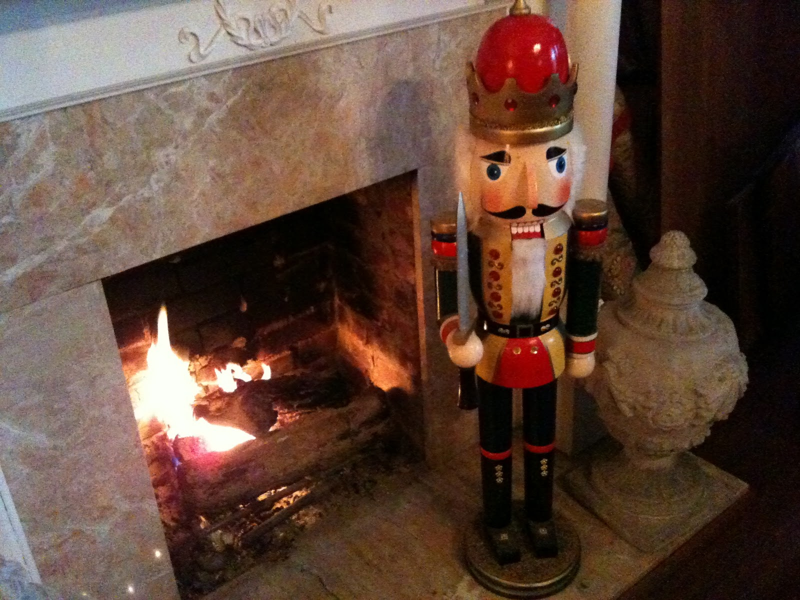 Ms design maven the grove nuts to you and a stump or two for 4 foot nutcracker decoration