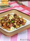 Pepper-Garlic Mushrooms And Potatoes