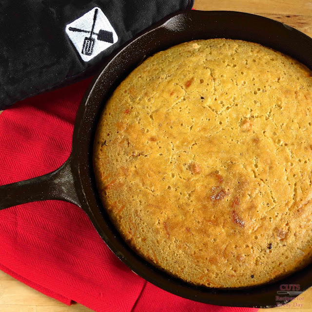 Cornbread in a pan