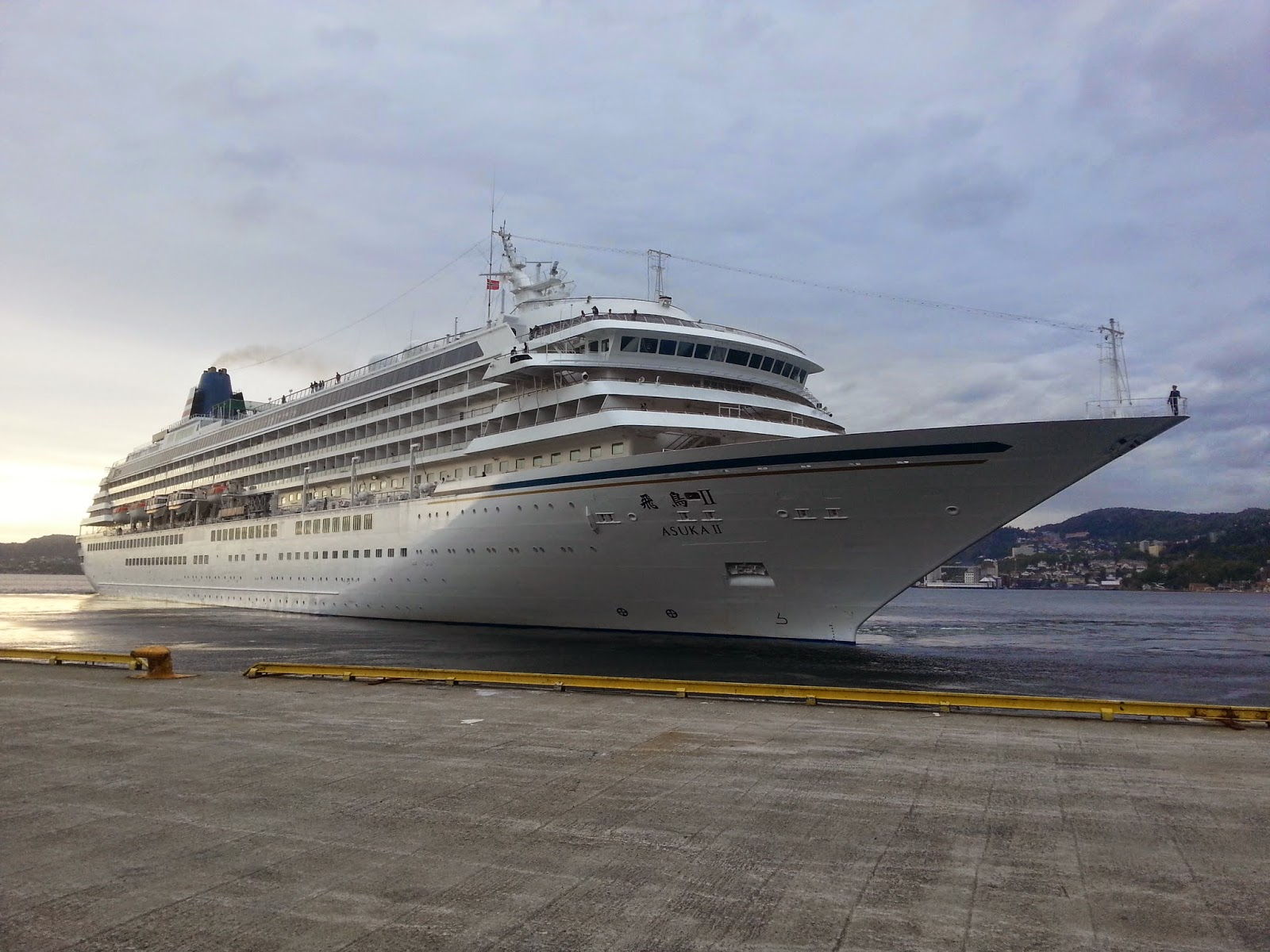 Japanese Cruise Ship Asuka II in Bergen, Norway